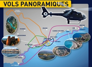 Helicopter trips in Cannes